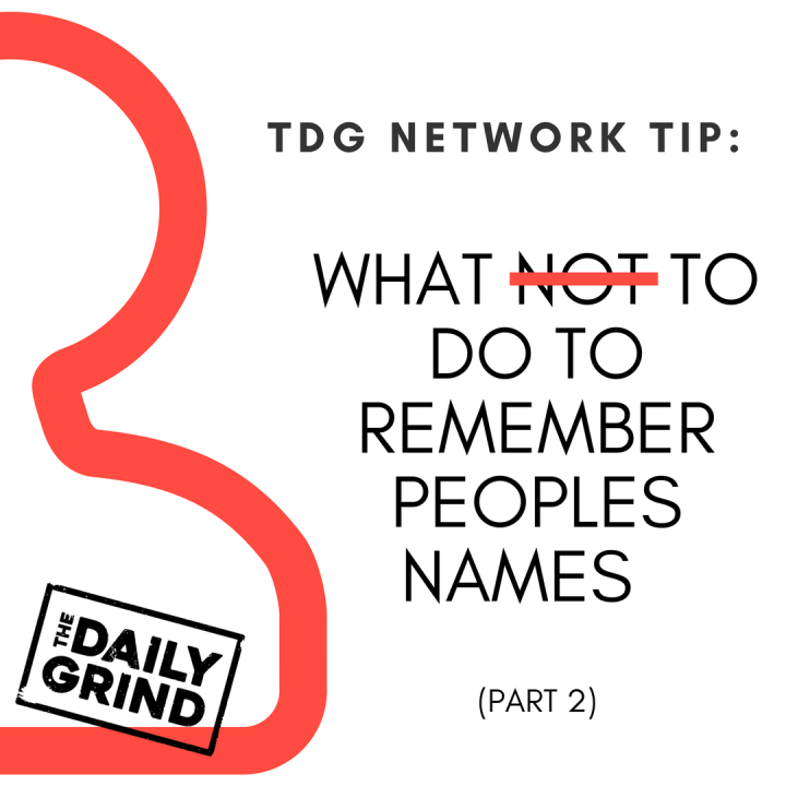 003 -what not to do to remember names